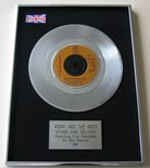 ADAM AND THE ANTS - STAND AND DELIVER Platinum Single Presentation Disc